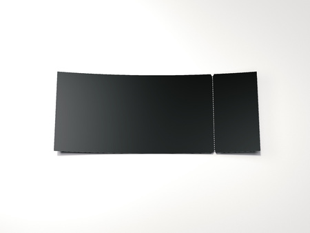 Black blank tear-off ticket. 3d rendering 版權商用圖片