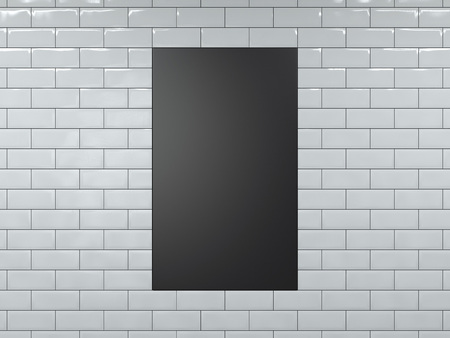 Bannière verticale noir vierge. Rendu 3D Banque d'images - 82324586