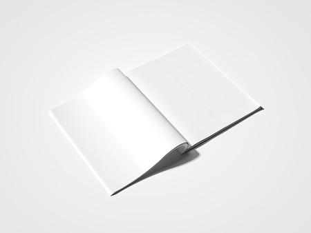 Blank white magazine. 3d rendering Imagens