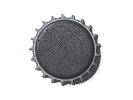 Dark silver bottle cap. 3d rendering