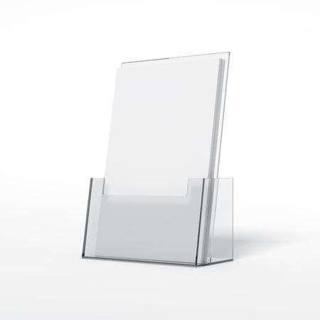 Folders plastic houder. 3D-rendering