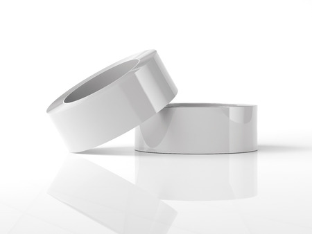 White adhesive tape. 3d rendering Stock Photo