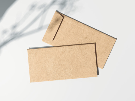 Two brown envelopes. 3d rendering Stock Photo