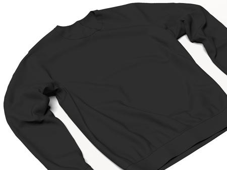Black sweatshirt. 3d rendering Foto de archivo