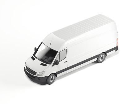 White blank minivan. 3d rendering