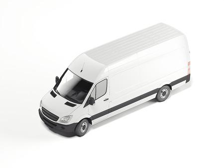 Witte lege minivan. 3D-rendering