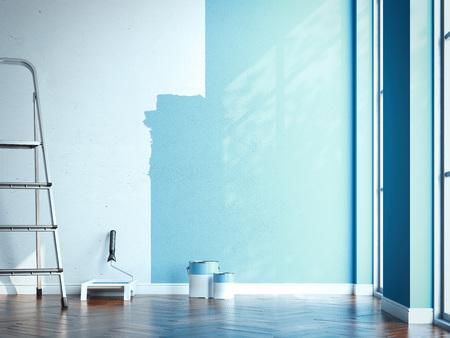 Apartment renovation . 3d rendering