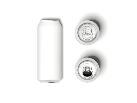 White can mockup. 3d rendering
