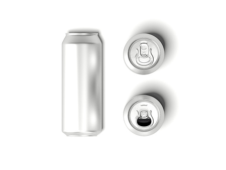 Silver can mockup. 3d rendering