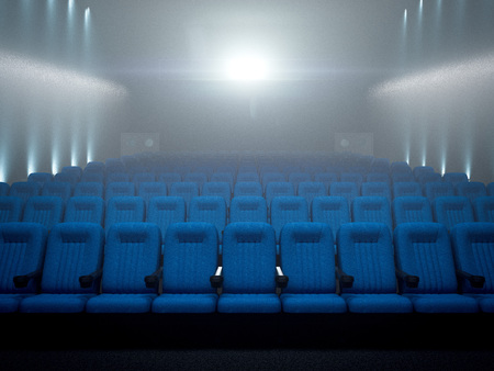 Modern cinema. 3d rendering