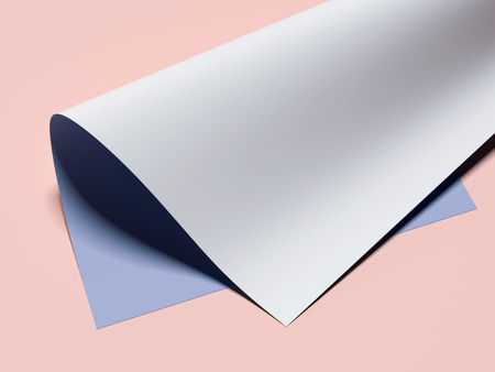 Rolled sheet. 3d rendering