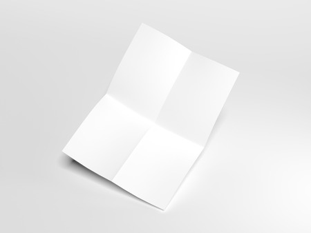 White folded sheet. 3d rendering