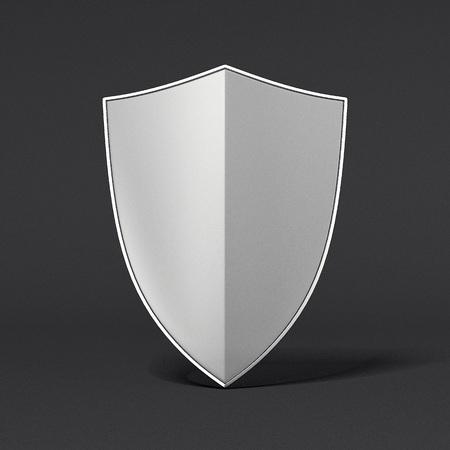Metal shield. 3d rendering Banco de Imagens