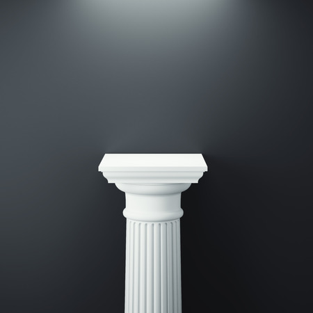 White greek column. 3d rendering