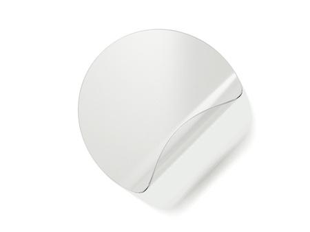 Pegatina redonda y transparente. Representación 3D Foto de archivo - 90148900