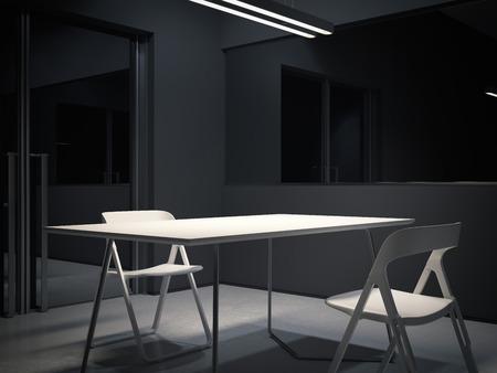 Room for interrogation. 3d rendering
