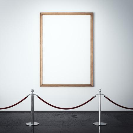 Fotolijst in het interieur van de galerij. 3D-weergave