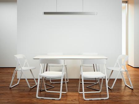 Tavolo con sedie. Rendering 3D Archivio Fotografico - 91138423