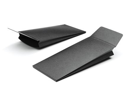 Two black packages. 3d rendering