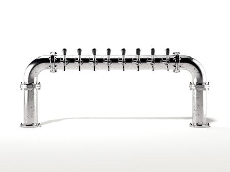 Beer metal column. 3d rendering