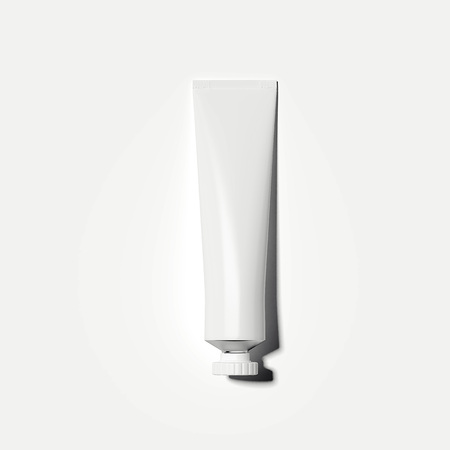 White cosmetic tube. 3d rendering 스톡 콘텐츠