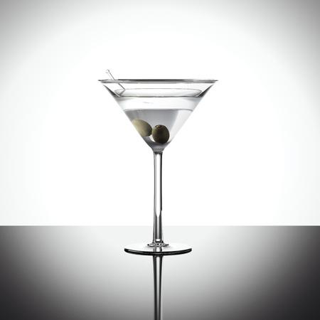 Cocktail in margarita glass. 3d rendering