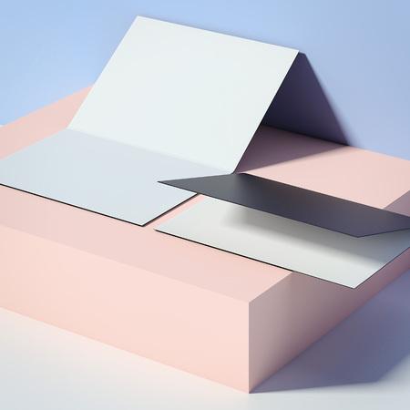 Twee folders op de doos. 3D-weergave