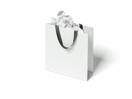 White shopping bag. 3d rendering