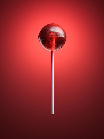 Red lollipop. 3d rendering Reklamní fotografie