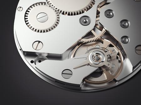 Clockwork mechanism. 3d rendering Stock Photo