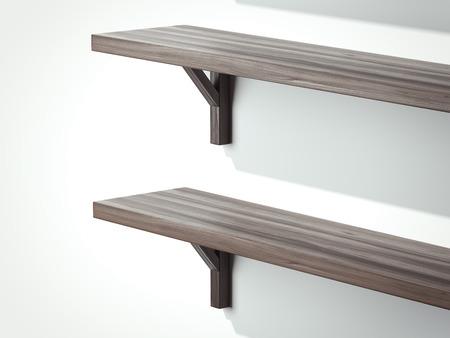白い壁に2つの半分3D レンダリング