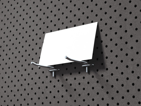 Business card on the gray wooden wall. 3d rendering