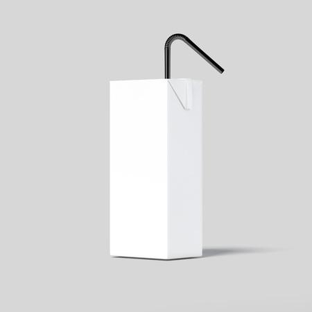 White blank paper pack. 3d rendering