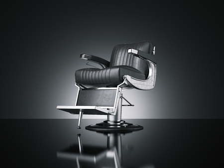 Barbershop chair isolated dark background. 3d rendering Stock fotó - 93958904