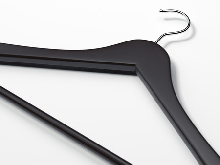 Black hanger. 3d rendering