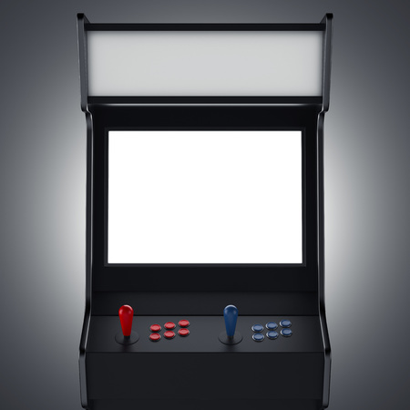 Black gaming machine. 3d rendering Stock Photo