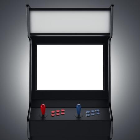 Macchina da gioco nera. Rendering 3d Archivio Fotografico - 96729954