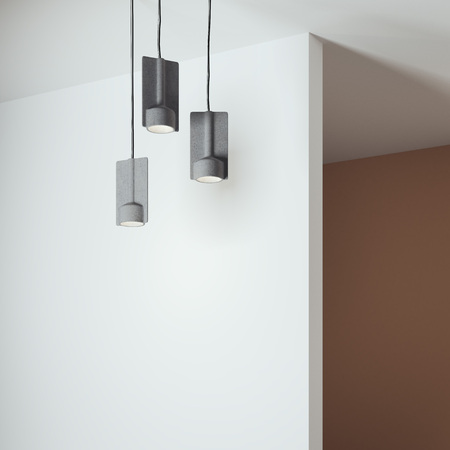 Bright interior with three lamps. 3d rendering