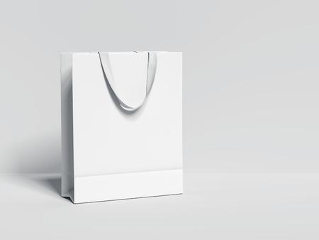 White blank shopping bag. 3d rendering
