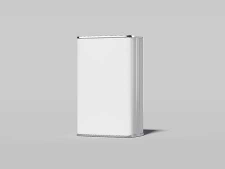 Blank white tin can. 3d rendering