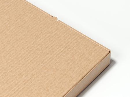 Closeup of brown carton box. 3d rendering Banco de Imagens