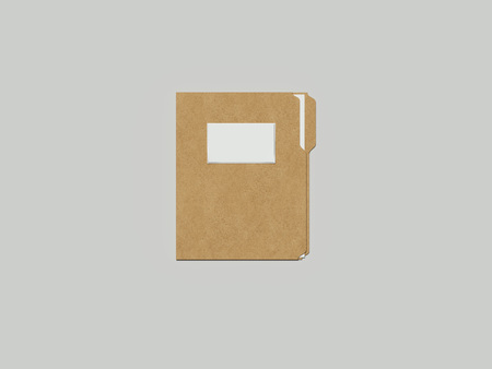 Closed cardboard folder, 3d rendering