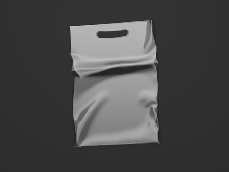 Plastic Bag Isolated On black Background, 3d rendering