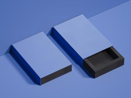 Violet boxes on violet background, 3d rendering Banco de Imagens