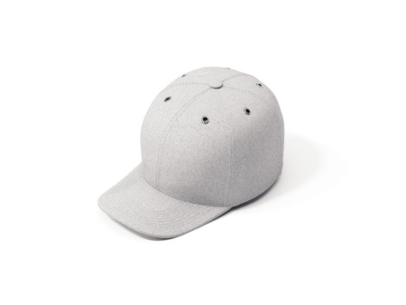 Close up of white realistic cap isolated, 3d rendering