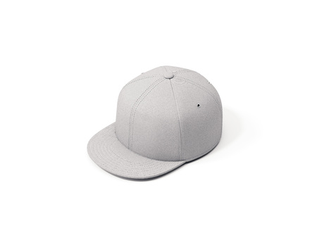 Close up of white cap isolated, 3d rendering