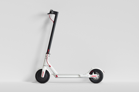 Electric scooter isolated on white background. eco transport. 3d rendering 版權商用圖片