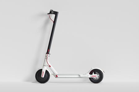 Scooter elettrico isolato su sfondo bianco. trasporto ecologico. rendering 3d