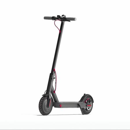 Scooter elettrico isolato su sfondo bianco. trasporto ecologico. rendering 3d Archivio Fotografico