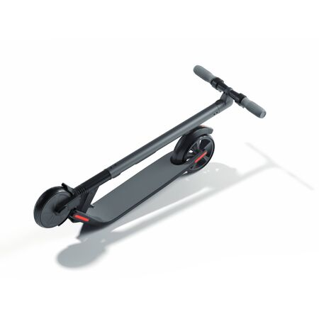 Electric scooter on white background. eco alternative transport. 3d rendering